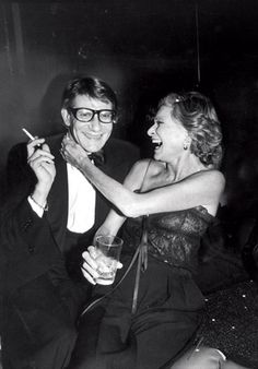 Yves Saint Laurent with Nan Kempner at a launch for Opium perfume, 1978. Photo: Robin Platzer/Time Life Pictures/Getty