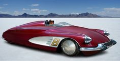 Salt Flats Citroen DS, so they say, obvious Corvette style coves, probably a Photoshop special, interesting in any case.