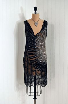 Dress, 1920s, Timeless Vixen Vintage  Look how sheer it is!  That must have been VERY scandalous in its day.