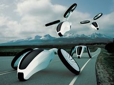 This concept is a vision of personal transportation in the horizon 20 - 30 years. It is the connection of flying and road vehicle. Adjustable propeller blades ensure a flip-drive on the road and in...
