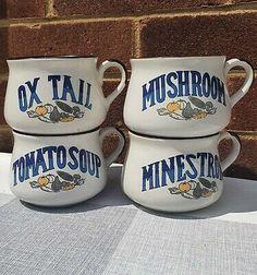 Christams Gifts, Soup Mugs, Stone Age, Mugs Set, Vintage 70s, Im Not Perfect, Ceramics, Decor, Ceramica