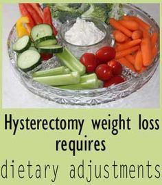 Hysterectomy weight loss requires dietary adjustments.