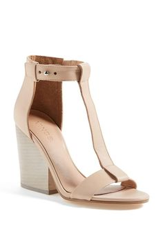 Nude sandals go with just about everything.