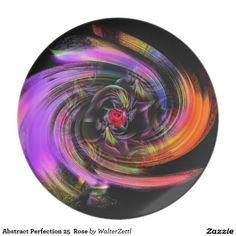 Abstract Perfection 25  Rose Dinner Plate