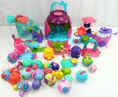 35 Piece Zoobles Toys Collection Lot Play Set Habitats Figures Pets Animals  #Sega