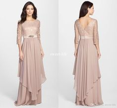 Elegant Wedding Mother of the Groom Dresses 2016 Vintage Lace Beaded Sash Floor Length Chiffon Bateau Neck Zipper Plus Size Evening Gowns Online with $111.21/Piece on Sweet-life's Store | DHgate.com