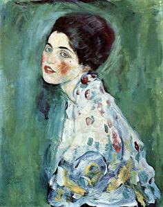 Gustav Klimt , Portrait Of A Woman  https://www.artexperiencenyc.com/social_login/?utm_source=pinterest_medium=pins_content=pinterest_pins_campaign=pinterest_initial