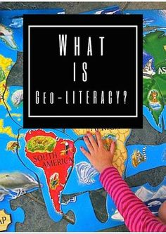What Is Geo-literacy for Kids? Geo-literacy is so much more than maps: understanding human and natural systems, geographic reasoning, systematic decision-making. These geography lessons are meant to start YOUNG kids on the road to be geo-literate. Geography For Kids, Geography Lessons, Teaching Geography, Human Geography, World Geography, Teaching Kids, Geography Activities, History Education, Teaching History