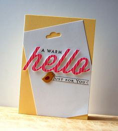 A Warm Hello Card by Cristina Kowalczyk for Papertrey Ink (February 2013)