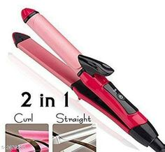 Trimmers TECHICON NHC-2009 2 in 1 Hair Straightener and Curler (Pink)  Material : Plastic  Brand : Tech Icon Size : Free Size Ideal For : Women How to Use - Straightening Step 1: Softly brush your hair out and divide it in sections for easy styling.Using your finger tips lift the section of hair you want to style and starighten Step 2: Using the Hair Straightener place your hair between the styling plates.Gently pull the straightener downwards and glide through your hair. Step 3:Repeat the straightening routine to style the rest of your hair.The result is straight and silky smooth hair. Description: It Has 1 Piece Of 2 In 1 Hair Straightener With Curler Country of Origin: India Sizes Available: Free Size   Catalog Rating: ★3.8 (3278)  Catalog Name: Solid Electronic Utilities Vol 1 CatalogID_362530 C50-SC1373 Code: 324-2679220-