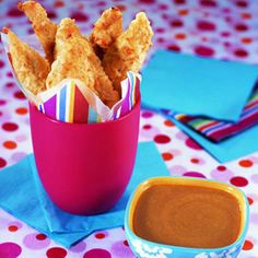 Chicken Fingers - Easy Snack Recipes - Delish! Kid Friendly Food!