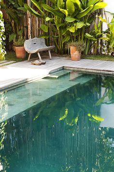 Pool at Casa Lola, Trancoso, Brazil Outdoor Pool, Outdoor Spaces, Outdoor Gardens, Outdoor Living, Outdoor Decor, Landscape Design, Garden Design, Gazebos, My Pool