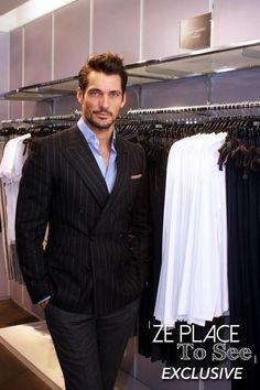British model @DGandyOfficial unveils his underwear collection at @marksandspencer Paris store. #GandyforAutograph