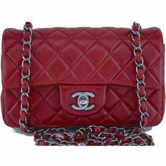 837227a93327 Pre-Owned Chanel Red Classic Quilted Rectangular Mini 2.55 Flap Bag  ( 3
