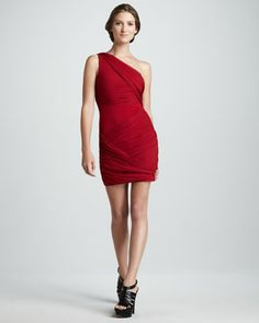 Wrapped Goddess Dress, Red by Alice + Olivia at Neiman Marcus.