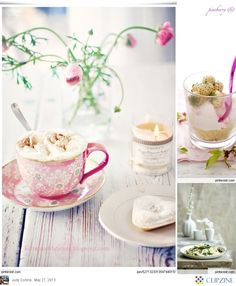 Food Photography - pretty Spring setting