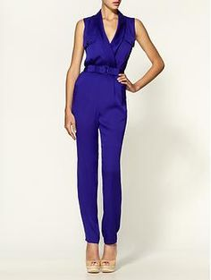 Rachel Zoe Edie Collar Jumpsuit. Normally not a jumpsuit girl but THIS color I could get into. Very sexy, especially for spring with nude pumps or wedges and a big ol' gold cuff and envelope bag.