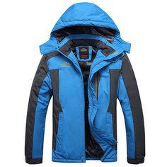 f977edb3663 Mens Outdoor Waterproof Windproof Fleece Plus Thick Warm Mountaineering  Jackets Big Size S-7XL Winter
