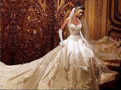 Grátis frete melhor qualidade do marfim cetim bordado Halter vestido de noiva com a Royal Train personalizado em Vestidos de noiva de Casamentos e Eventos no AliExpress.com | Alibaba Group
