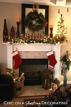 Decorate your Mantel or Chimney for Christmas