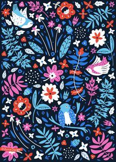 Secret Garden Collection by Anna Deegan, via Behance