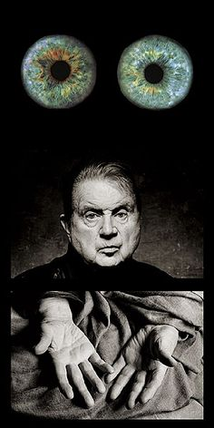 The eyes and hands of Francis Bacon. Photographed by Francis Giacobetti.