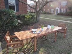 Ikea Applaro   extended leaf patio set