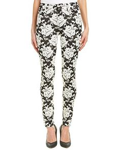 New Trending Denim: 7 For All Mankind Womens High Waist Skinny Jean, White Rose Jacquard, 28. 7 For All Mankind Women's High Waist Skinny Jean, White Rose Jacquard, 28   Special Offer: $94.99      444 Reviews Skinny from top to bottom. Super skinny leg opening. High waisted.Skinny jean in floral jacquard featuring five pocket styling and zip fly with button closure9.5 inch...