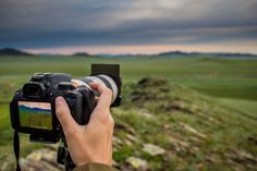 Back Button Focusing and Shooting with a Square Filter and Filter Holder in Central Mongolia.