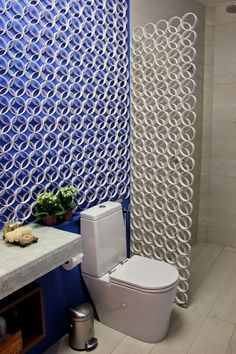 Bathroom Wall Deco and Divider from Moldes e etc - ALSO USE OUTDOORS AS A TRELLIS ♥