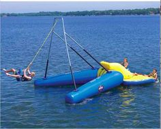 This inflatable rope swing which doesn't require any climbing of trees.