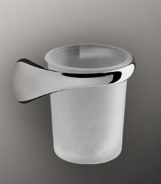 Colombo Design Link Collection Natural Glass Tumbler Holder-Right Hand from Cabinet Knobs and More