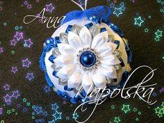 """Новорічна кулька """"Зимові квіти"""" канзаши. Новогодний шарик """"Зимние цветы"""" своими руками - YouTube"""