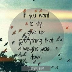 """If you want to fly, give up everything that weighs you down.""  For more motivational and uplifting quotes, click on the image above!"