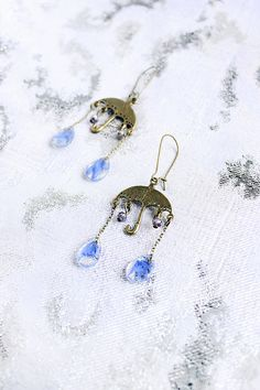 gift for mom chandelier earrings blue jewelry gift for girlfriend dangling earrings gift for her fun earrings for kids gifts for sister сп26