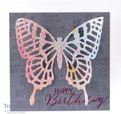 Stampin' Up! - butterflies thinlits - masking - spritzing - Bedlam & Butterflies