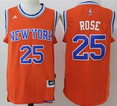 3633900a8  Knicks  25  Derrick  Rose Orange Alternate  StitchedNBAJersey Adidas Nba  Jersey