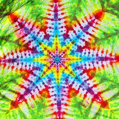 8 Pointed Star Tie Dye Tapestry by tiedyeron on Etsy, $60.00