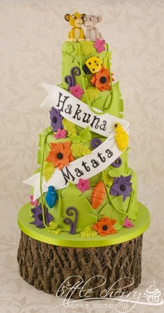 My own wedding cake....I got married in a zoo and also had a film theme so this fit really well :)