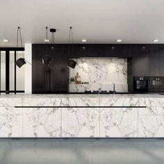 Unique Home Decor, Cheap Home Decor, Vintage Home Decor, Kitchen Dinning, Kitchen Decor, Quirky Kitchen, Kitchen Island, White Marble Kitchen, Bespoke Kitchens