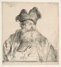 Rembrandt van Rijn, Old Man with Divided Fur Cap, 1640