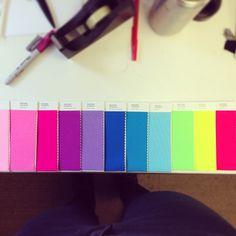 Neon rainbow. #pantone #design #neon