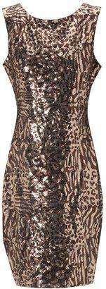 Women's Jane Norman Animal sequin dress - Was £ 65 now £32.50