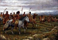 The Encounter | Blackfoot | Lewis and Clark painting | James Ayers Studios