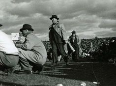 Curly Lambeau on the sidelines at City Stadium Sept. 28, 1941. #packers #nfl #vintage