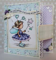 LOTV - February Fairy with Snow Princess Paper Pad and Birthdays and Best Wishes Sentiments by Kat Waskett