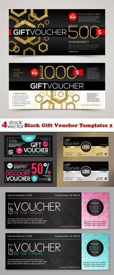 Vectors - Gift Voucher Templates 29 Pinterest Template and Brochures - payment voucher template