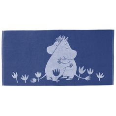 This blue towel with Snorkmaiden and Moomintroll is magical. It is sweet and beautiful, use for memorable bath moments. Moomin-towels are inspired by Tove Jansson's original drawings and are authentic ©Moomin Characters™ licensed products. Moomin Shop, Enchanted Doll, Tove Jansson, Blue Towels, Bathroom Ideas, How To Memorize Things, Have Fun, Mermaid, Creatures