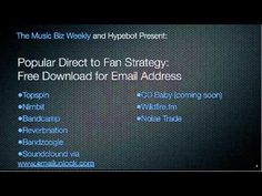 Direct to Fan Music Marketing 101 – Email Exchange for a Download (video)