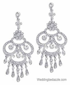 Glamorous chandelier formal pageant earrings. | PAGEANT PERFECT ...